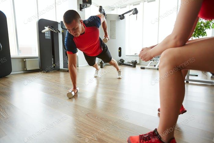 Training on the floor