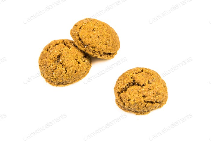 Set of three pepernoten cookies