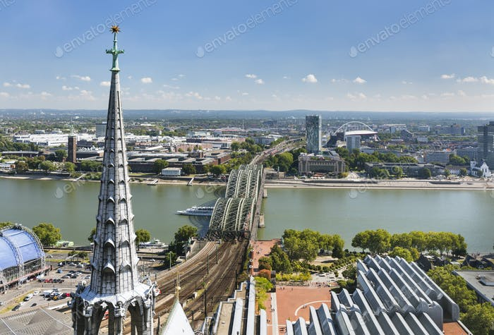Cologne Hohenzollern Bridge And Rhine, Germany