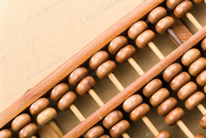 Wooden abacus bead