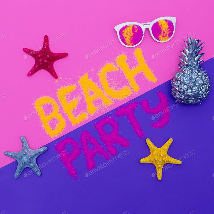 Beach Party Set Minimal fashion art