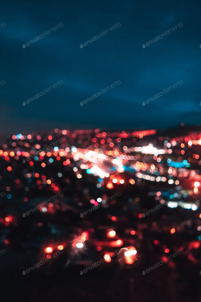 Blurred focus of big city
