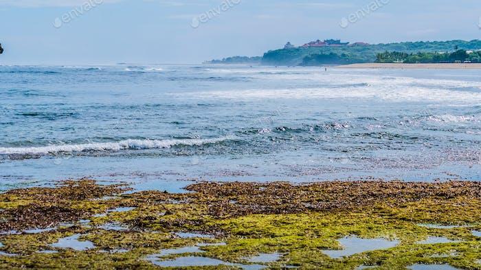 Waves on beautiful Nusa Dua Bali Beach