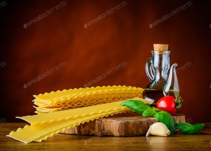 Yellow Reginette Lasagne Pasta