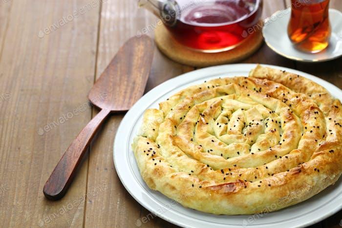 homemade rolled borek, turkish cuisine