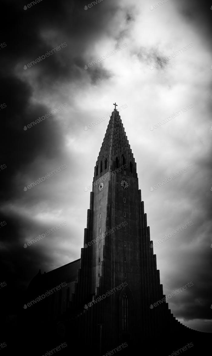 Dramatic Reykjavik Church