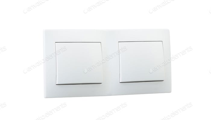 white double light switch