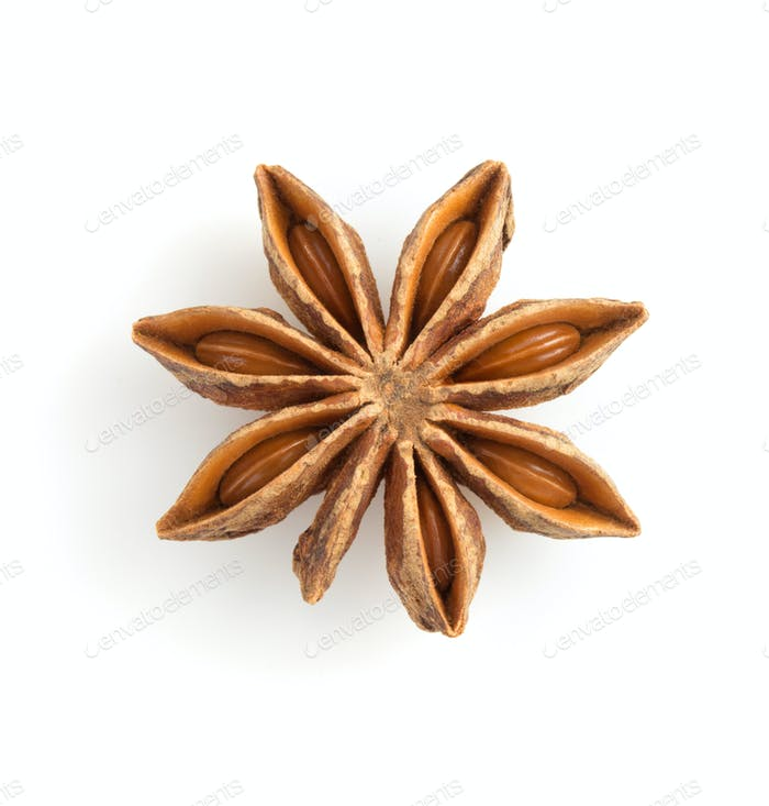anise star on white