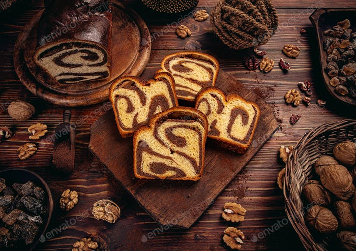 Sweet homemade braided yeast bread