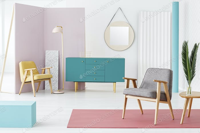Furniture composition and color scheme