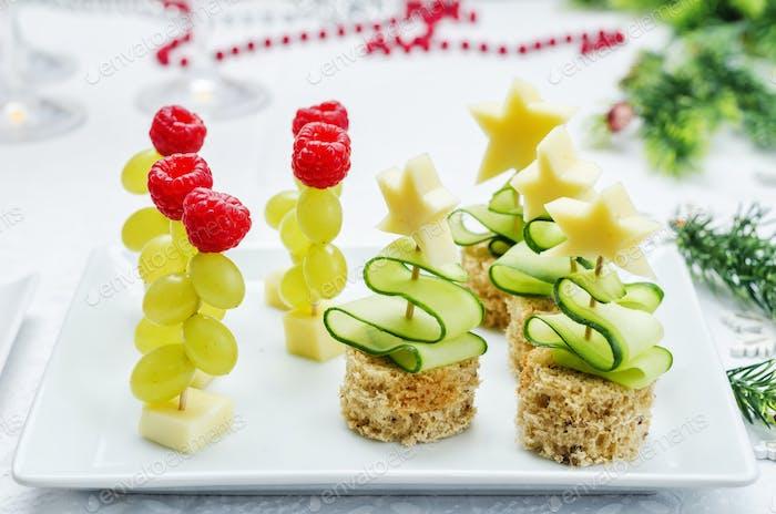 Assortment of New Year's snacks