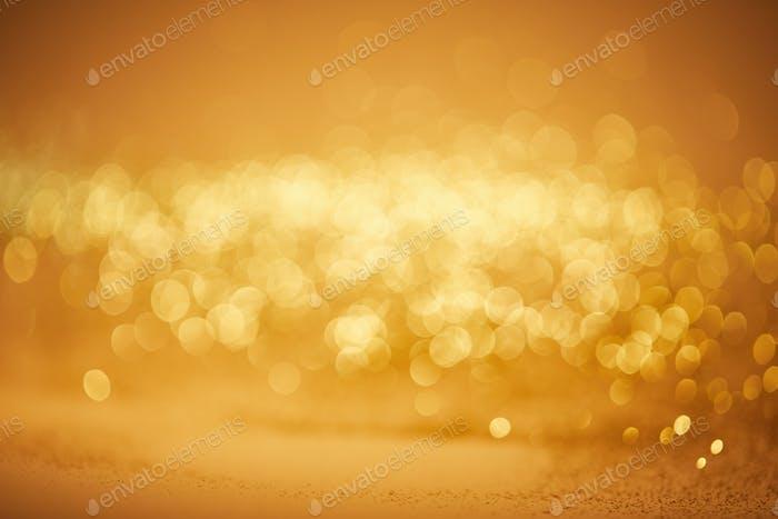 fondo de navidad bokeh dorado con lentejuelas brillantes