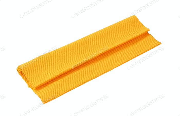Tischset aus Baumwolle, gerippt, Orange