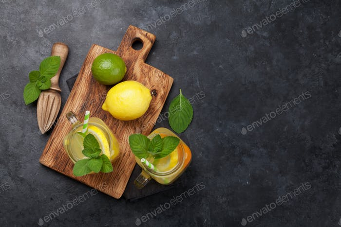 Fresh summer lemonade