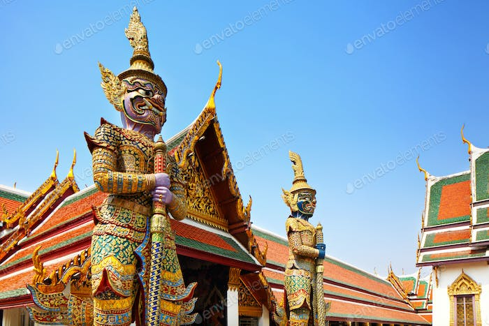 Statue sculpture in the Grand Palace