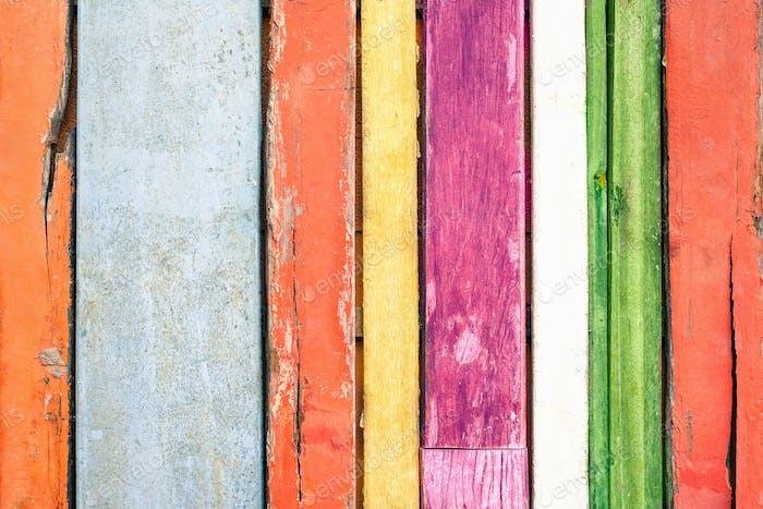 Fondo de madera multicolor y material de construcción alternativo