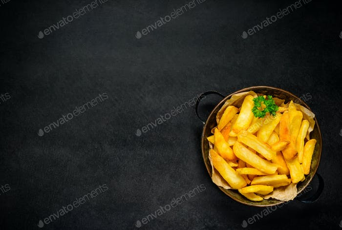 French Fries and Copy Space Area