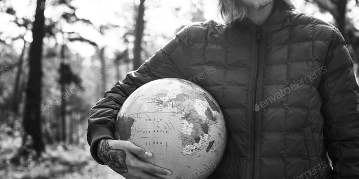 Globe Global Sphere World Cartography Earth Concept