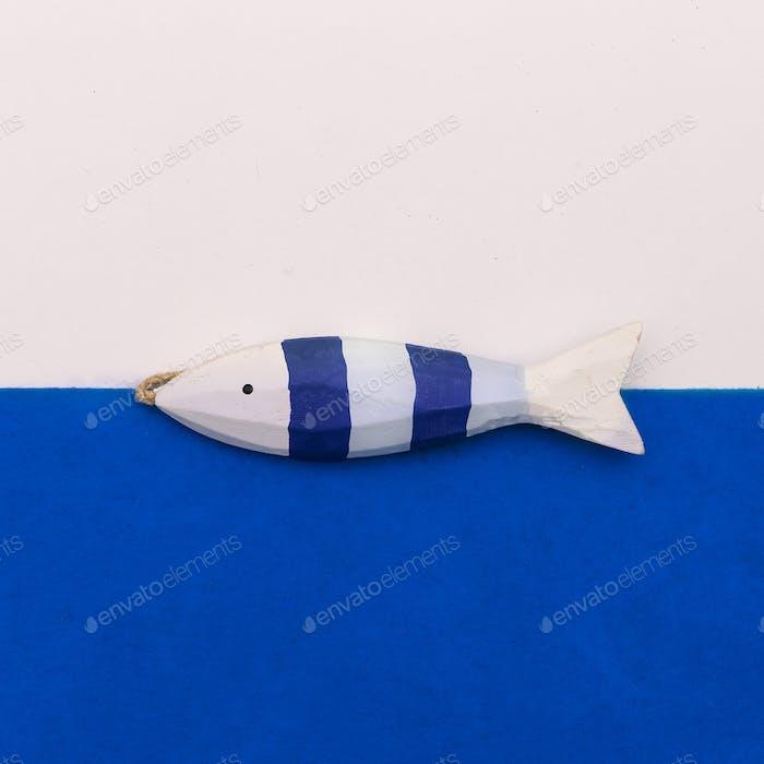 Fisch-Souvenir Minimal Art Design
