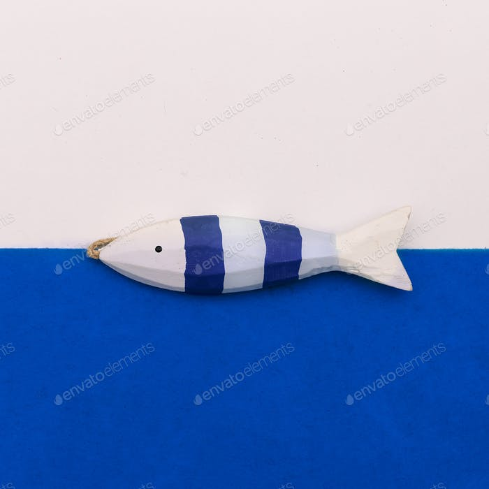 Fish souvenir Minimal art design