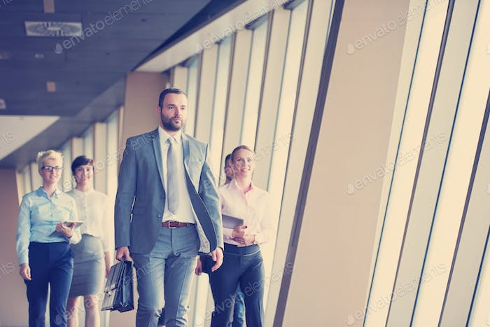 business people group walking