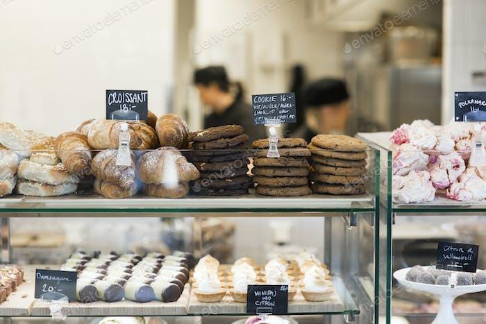Sweets on display