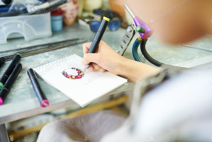 Künstlerin Zeichnung Sketch