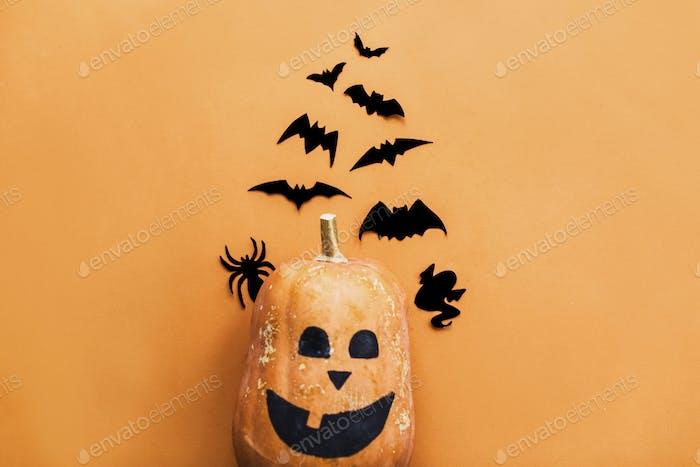 Halloween jack o lantern, pumpkin