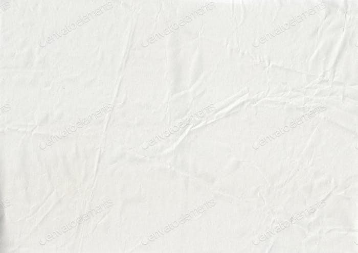 white crumpled kraft paper texture