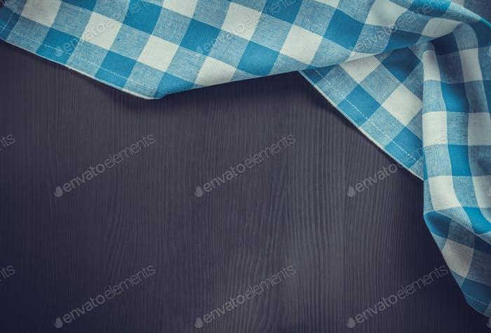 cloth napkin on wooden