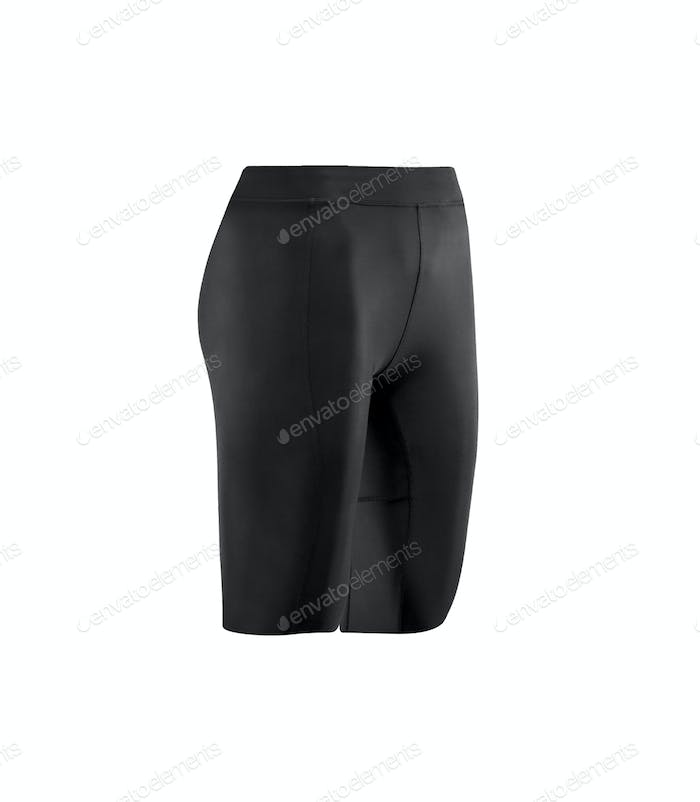black tight cycling shorts isolated on white