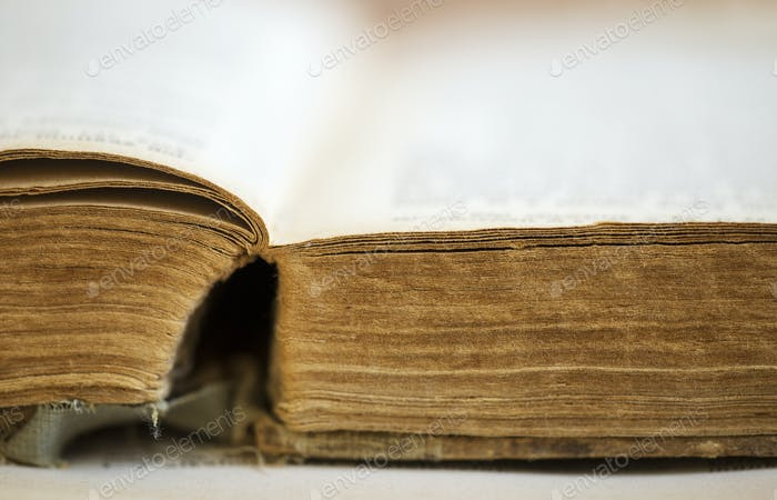 Old book close-up