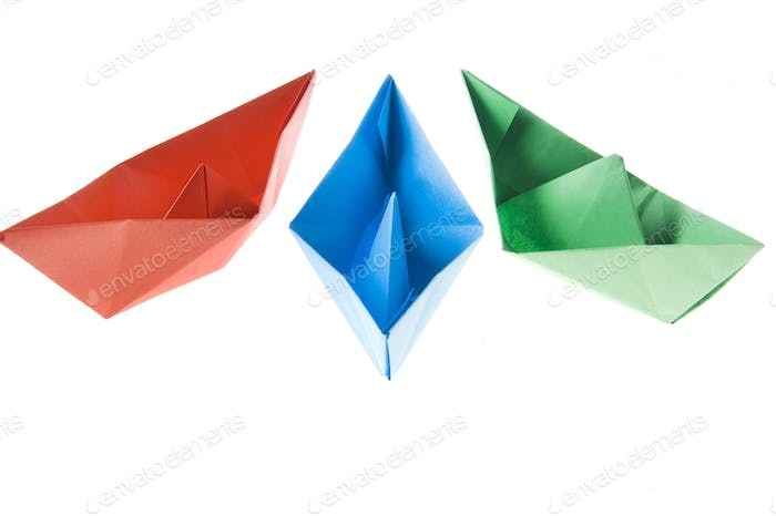 Small paper boats