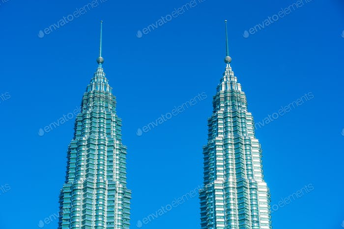 Beautiful architecture building exterior in Kuala Lumpur city in