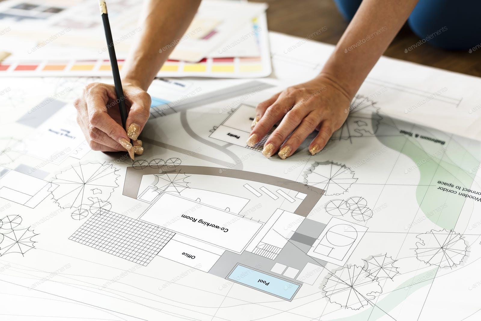 Design Studio Architect Creative Occupation Blueprint Concept Photo By Rawpixel On Envato Elements