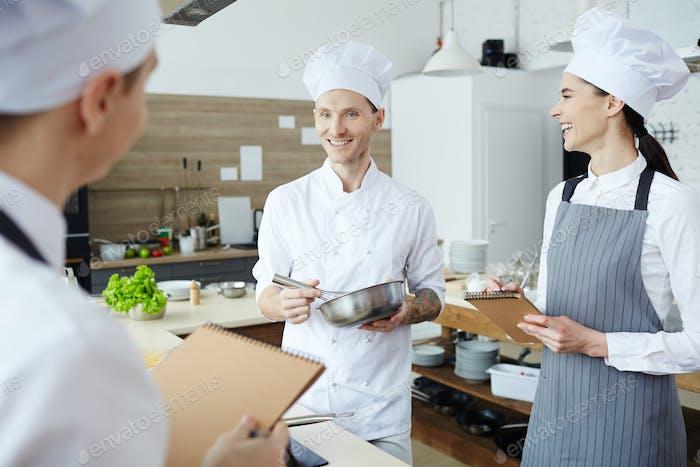 Erzählen über das Kochen in der Werkstatt