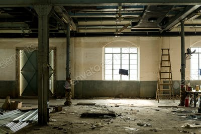 Old abandoned room with window