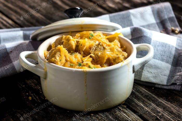 Segedin Goulash-cabbage stew with beef