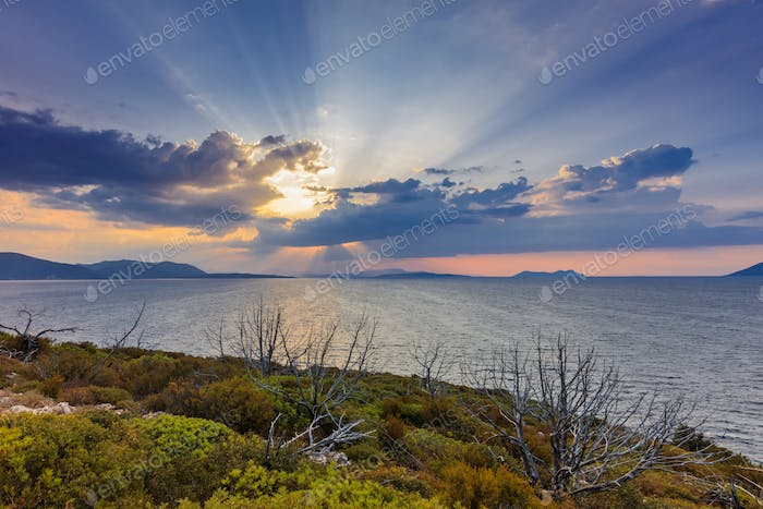 sunrise in Ionian Islands