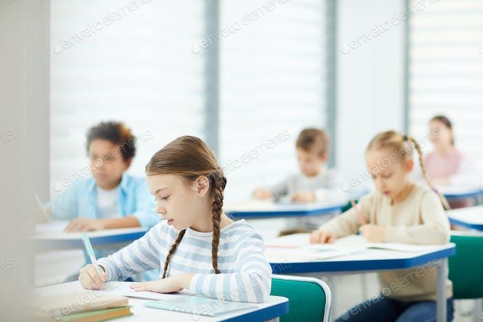 Primary Schoolers In Classroom