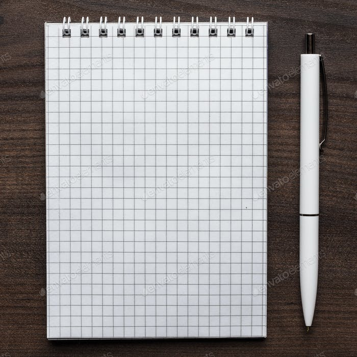 Blank Notebook And White Pen