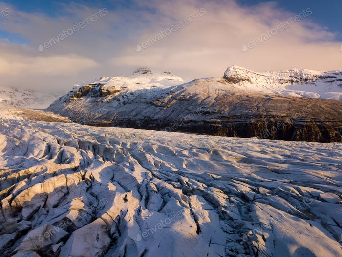 Luftaufnahme des Vatnajokull-Gletschers, Island