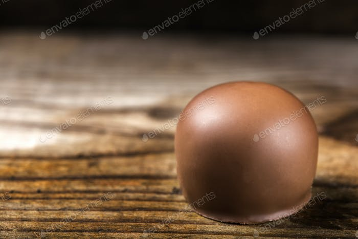 Nahaufnahme von einem runden Süßigkeiten