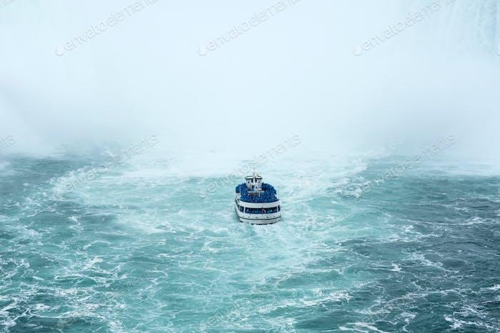 Ferry approaching the famous Niagara Fall