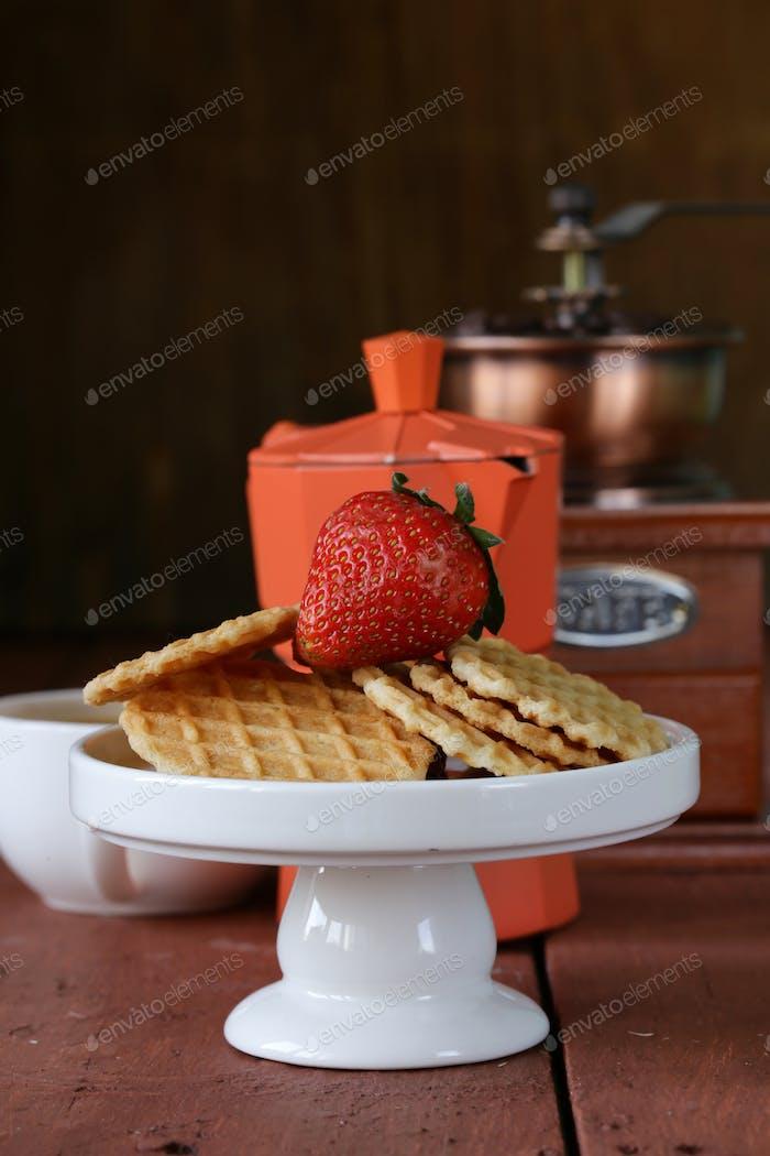 Still Life Breakfast with Waffles