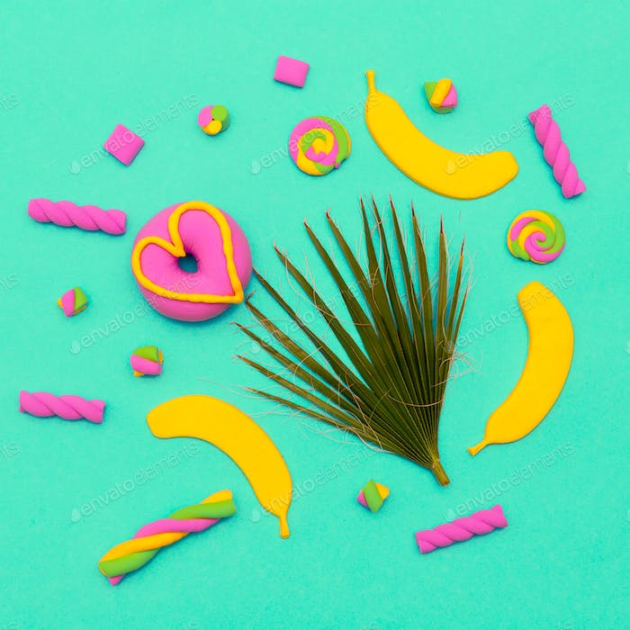 Sweet Candy Art Minimal flatlay Vanilla mood
