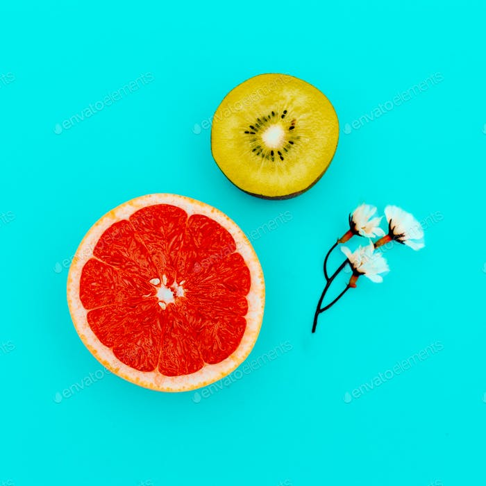 Tropical mix. Fruit. Minimal