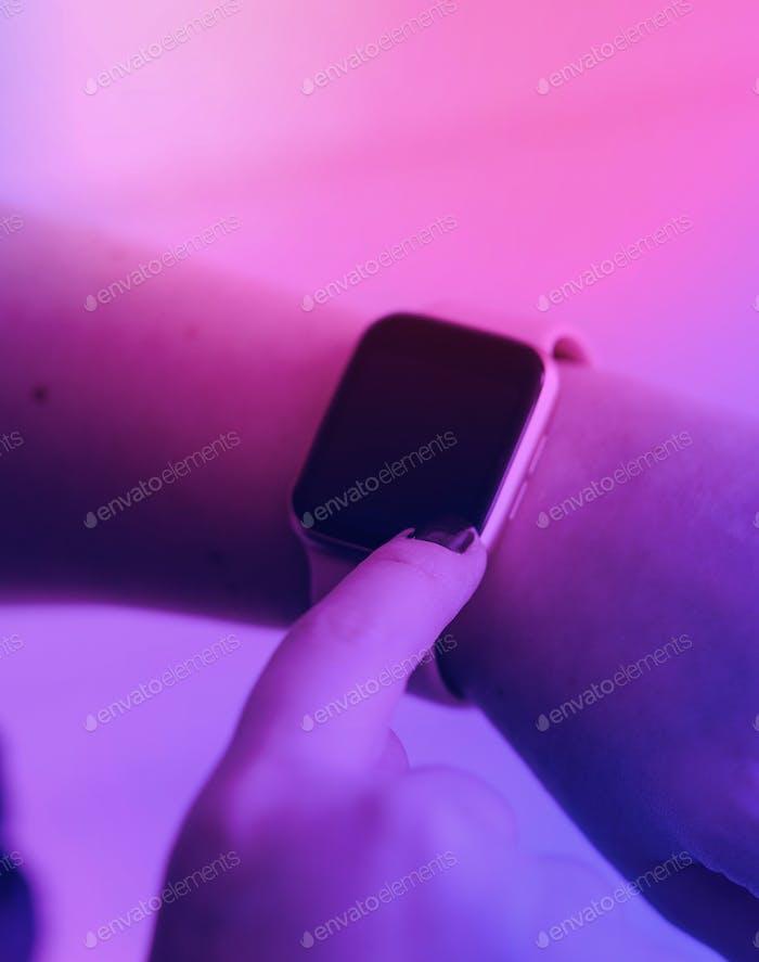 Blank smartwatch screen