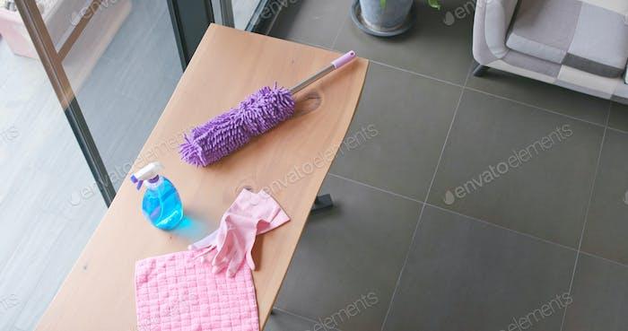 Housewife prepare to do housework