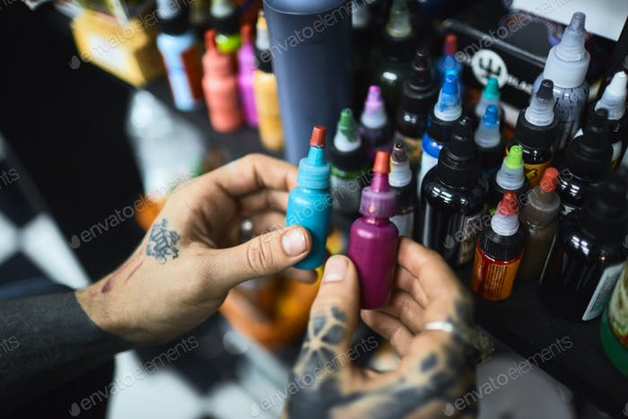 Choice of tattoo paints